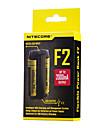 F2 Carregador de Bateria para Bateria de Litium 10440,14500,16340 (RCR123),17335,17500,17670,18490,18650,26650