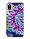 Capinha Para iPhone X iPhone 8 Plus Brilha no Escuro IMD Estampada Capa Traseira Mandala Macia TPU para iPhone X iPhone 8 Plus iPhone 8