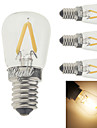 2W E14 Lampadas de Filamento de LED G60 2 leds COB Decorativa Branco Quente 150-200lm 3000K AC 220-240V