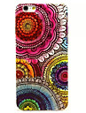 Capinha Para Apple iPhone X iPhone 8 iPhone 8 Plus Ultra-Fina Estampada Capa Traseira Mandala Macia TPU para iPhone X iPhone 8 Plus