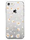 Capinha Para Apple iPhone X iPhone 8 Estampada Capa traseira Azulejo Flor Macia TPU para iPhone X iPhone 8 iPhone 7 Plus iPhone 7 iPhone