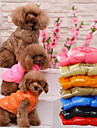 Cat Dog Vest Christmas Dog Clothes Casual/Daily Keep Warm Halloween Solid Black Brown Red Blue Costume For Pets