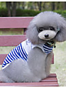Dog Vest Dog Clothes Casual/Daily Sailor Red Blue Costume For Pets