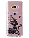 For Case Cover Transparent Pattern Back Cover Case Sexy Lady Flower Soft TPU for Samsung Galaxy S8 Plus S8 S7 edge S7