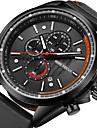 Homme Quartz Montre Bracelet Montre de Sport Japonais Calendrier Noctilumineux Chronometre Vrai Cuir Bande Luxe Decontracte Mode Cool