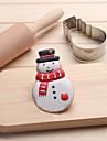 Cortador de bolinhas de neve Bolo de biscoito de aco inoxidavel