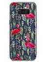 케이스 제품 Samsung Galaxy S8 Plus S8 투명 패턴 엠보싱 텍스쳐 뒷면 커버 플라밍고 소프트 TPU 용 S8 Plus S8 S7 edge S7 S6 S5