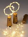 3pcs 15-led luz de cordao de fio de cobre de 0,75 m com rolha de garrafa para garrafa de artesanato de vidro fada de valentim festa de
