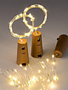 0,7m Fili luminosi 15 LED Bianco caldo Impermeabile / Decorativo / Natale <5 V 3 pezzi / IP65