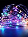 1pcs hkv® 3m 30 levou 3 x aa bateria fio de cobre corda de fadas luz festa de casamento decoracao led luzes de corda (sem baterias)