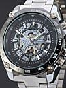 WINNER Муж. Нарядные часы Наручные часы Механические часы С автоподзаводом С гравировкой Нержавеющая сталь Группа Роскошь Винтаж На