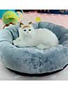 قط كلب الأسرّة حيوانات أليفة الوسادات لون سادة ناعم قابل للغسيل رمادي للحيوانات الأليفة