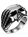 Men\'s Ring - Stainless Steel Skull Rock, Hip-Hop, Statement 8 / 9 / 10 Silver For Halloween / Street