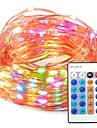 String Lights 100 LEDs Color-changing Remote Control / RC Dimmable 12V