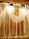3m x 3m 300는 결혼식 집 가정 정원 침실 옥외 실내 벽 훈장을위한 창 커튼 끈 빛을지도했다