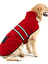 Dog Coat / Reflective Band Dog Clothes Solid Colored Dark Blue / Red / Jade Suede / Cotton Costume For Pets Keep Warm