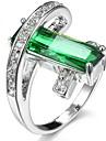 Жен. Кольцо на кончик пальца Кольцо Цирконий Темно-синий Лиловый Красный Зеленый Светло-Зеленый Циркон Медь Геометрической формы Классика