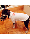 Dog Hoodie Dog Clothes Solid Colored White / Black Cotton Costume For Pets Men\'s / Women\'s Stylish