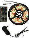 SENCART 5m Light Sets 300 LEDs 5050 SMD RGB Remote Control / RC / Cuttable / Dimmable 100-240 V 1set / Linkable / Self-adhesive / Color-Changing