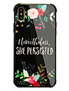 Case For Apple iPhone X iPhone 8 Shockproof Pattern Back Cover Word / Phrase Flower Hard Tempered Glass for iPhone X iPhone 8 Plus iPhone