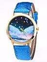 Жен. Наручные часы Китайский Кварцевый Фаза луны PU Группа Цветной Черный Белый Синий Коричневый Зеленый Розовый Роуз