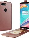 Кейс для Назначение OnePlus OnePlus 5T 5 Бумажник для карт Флип Чехол Сплошной цвет Твердый Кожа PU для One Plus 5 OnePlus 5T