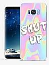 Capinha Para Samsung Galaxy S8 Plus / S8 Estampada Capa traseira Palavra / Frase / Marmore Macia TPU para S8 Plus / S8 / S7 edge