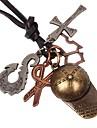 Homme Pendentif de collier - Croix, Ciseaux Retro Bronze Colliers Tendance 1 Pour Anniversaire, Cadeau