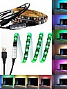 60 LED Bande lumineuse de 1M LED Telecommande 17 touches RVB Lumiere de fond TV <5V