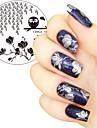 1 pc 5.5 cm ronde nail art timbre estampage plaques modele hibou switchgrass fleur conception image plaque pochoir pour ongles
