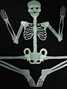 30CM Luminous Noctilucous Skull Skeleton Haunted House Bar Scene Arranged Decoration Props Halloween
