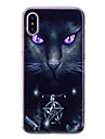 Coque Pour Apple iPhone X iPhone 8 IMD Motif Coque Arriere Chat Flexible TPU pour iPhone X iPhone 8 Plus iPhone 8 iPhone 7 Plus iPhone 7