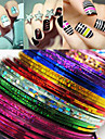 24 pcs Foil Stripping Tape / Nail Sticker Striped Nail Art Design Chic & Modern / Fashion Creative Daily