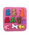 Формы для нарезки печенья Кошка Собаки Поросенок конфеты Для Cookie Для торта Для шоколада Торты силикагель Своими руками День