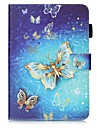 Case For Samsung Galaxy Tab S2 9.7 Card Holder Wallet with Stand Pattern Auto Sleep/Wake Up Full Body Cases Butterfly Hard PU Leather for