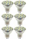 SENCART 6pcs 80W 5W 260 lm MR11 Spot LED MR11 15 diodes electroluminescentes SMD 5060 Decorative Blanc Chaud Blanc Froid DC 12V