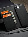 Custodia Per Apple iPhone X / iPhone 8 A portafoglio / Porta-carte di credito / Con supporto Integrale Tinta unita Resistente pelle sintetica per iPhone X / iPhone 8 Plus / iPhone 8