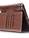 Case For Apple iPad Air Card Holder Shockproof with Stand Flip Full Body Cases Solid Color Hard Genuine Leather for iPad Air