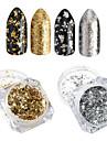 2pcs Nail Glitter Glitter Powder Sequins Mirror Effect Sparkle & Shine Nail Art Design