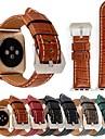 Bracelet de Montre  pour Apple Watch Series 3 / 2 / 1 Apple Bracelet en Cuir Vrai Cuir Sangle de Poignet