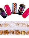 1 Decorating Tool Metallic Hollowed Party / Evening Daily Carnival Prom Nail Dotting Tool