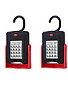 2pcs LED Night Light White AAA Batteries Powered Safety Easy Carrying Emergency <5V