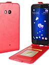 케이스 제품 HTC U11 Life U11 카드 홀더 플립 전체 바디 케이스 한 색상 소프트 PU 가죽 용 HTC U11 HTC U11 Life HTC U11 plus