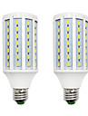 BRELONG® 2pcs 18W 1200lm E14 E26 / E27 B22 LED лампы типа Корн 84 Светодиодные бусины SMD 5730 Тёплый белый Белый 220-240V
