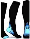 Calzini a compresione Calze sportive / Calze sportive Calzini da ciclismo Ciclismo / Bicicletta Bicicletta / Ciclismo Traspirante Comodo 2 coppie Monocolore Nylon Blu Rosa Grigio S / M L / XL