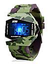 SKMEI Homens Digital Relogio digital Relogio Militar Relogio Esportivo Alarme Calendario Cronografo Impermeavel LCD Silicone Banda