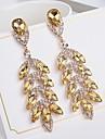 Women\'s Bohemian Leaf Crystal Drop Earrings - Bohemian Elegant Leaf For Gift Evening Party