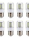 BRELONG® 8pcs 3W 270lm E14 E26 / E27 Lampadas Espiga 24 Contas LED SMD 5730 Branco Quente Branco 220-240V