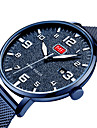 MINI FOCUS Hombre Reloj Casual Japones Cuarzo Acero Inoxidable Negro / Azul / Plata Calendario Noctilucente Reloj Casual Analogico Moda - Azul Negro / Blanco Negro / Oro Rosa