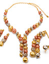Women\'s Jewelry Set - Pearl, Gold Plated Fashion, Statement Include Gold For Wedding / Party / Earrings
